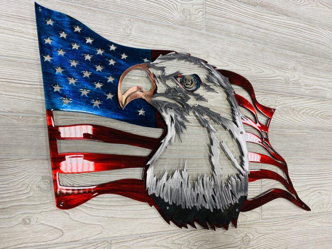 US Metal Freedom Flag