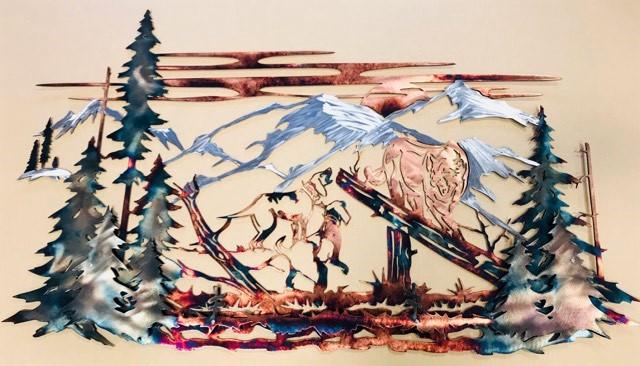 01 Mountain Lion Hunting Dog Wildlife Wall Art Metal Dècor Studios 1 300x259