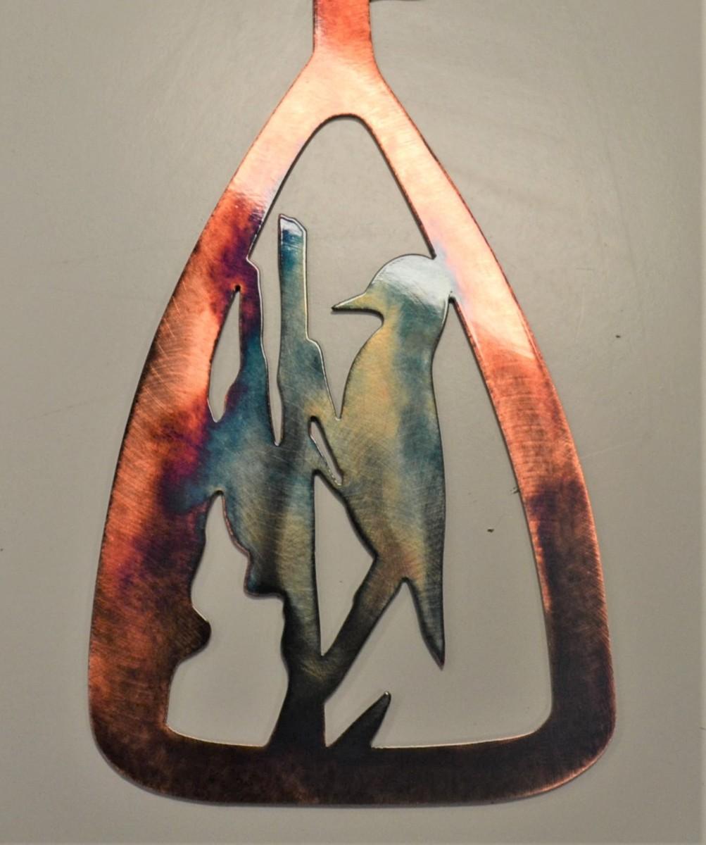 01 canoe paddle woodpecker Metal Wall Art Metal Dècor Studios