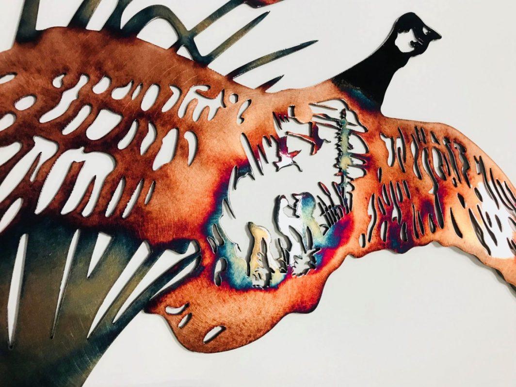 01 goose hunting scene Metal Wall Art Metal Dècor Studios