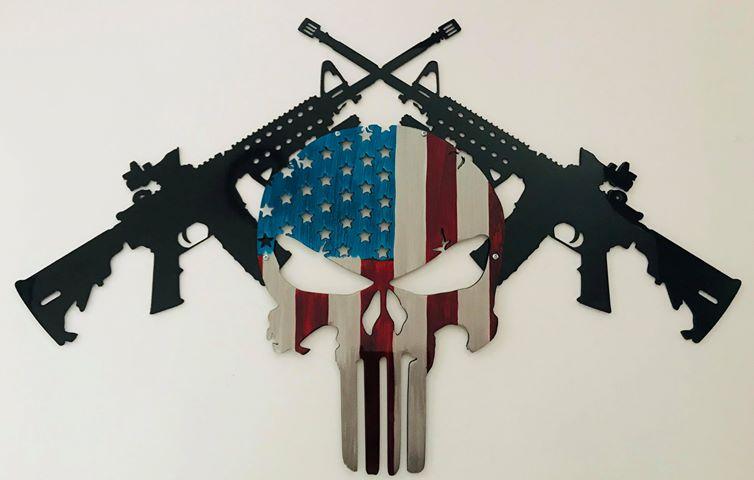02 AR15 American Punisher Wall Art Metal Dècor Studios