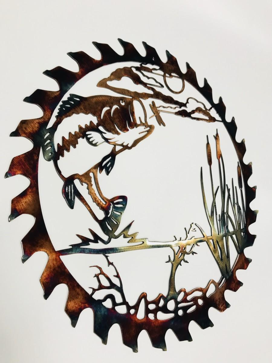 02 bass attack sawblade cut out Metal Wall Art Metal Dècor Studios