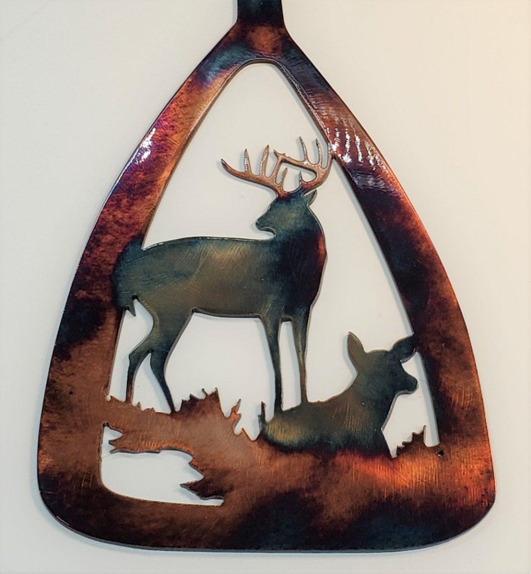 02 canoe paddle alert buck ducks Metal Wall Art Metal Dècor Studios