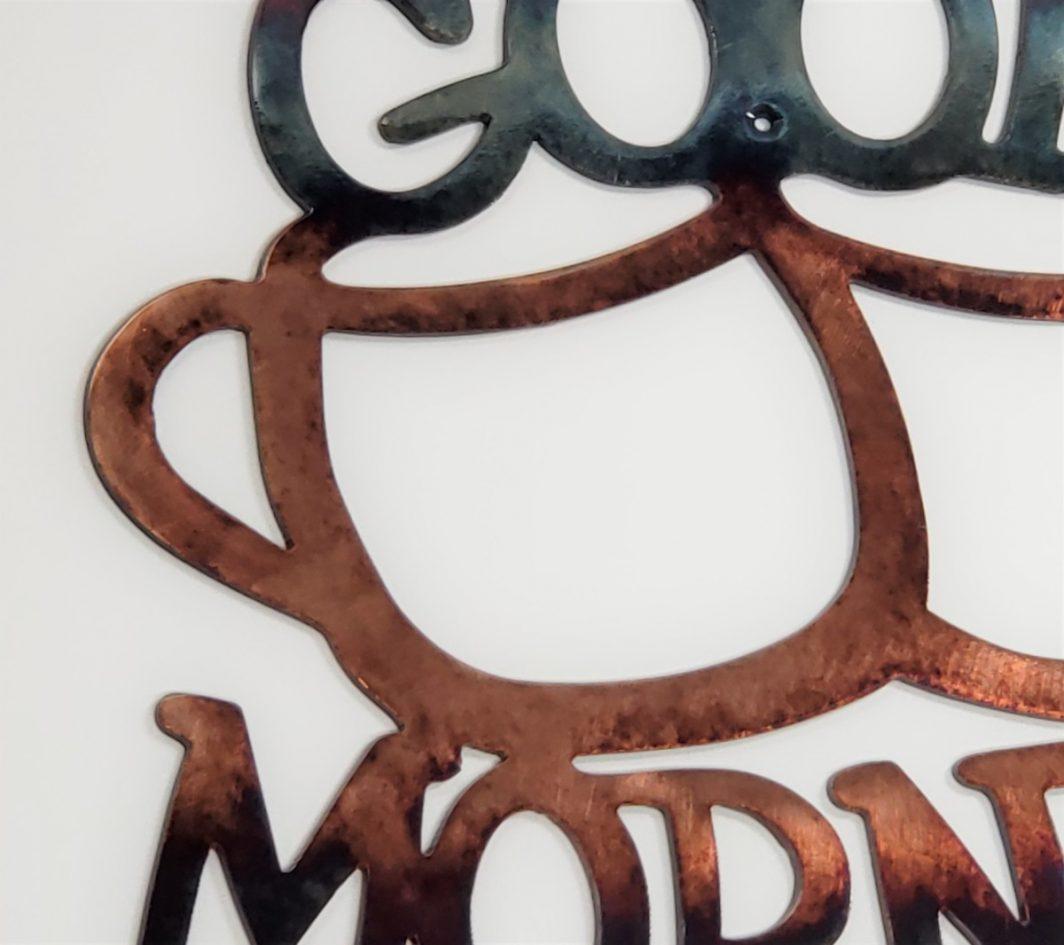 02 good morning coffee Metal Wall Art Metal Dècor Studios