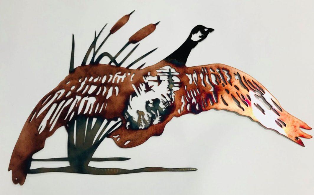 02 goose hunting scene Metal Wall Art Metal Dècor Studios