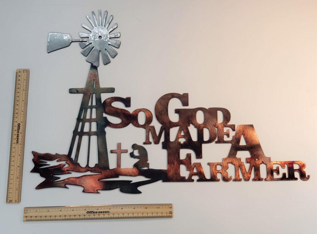 02 so god made a farmer Metal Wall Art Metal Dècor Studios
