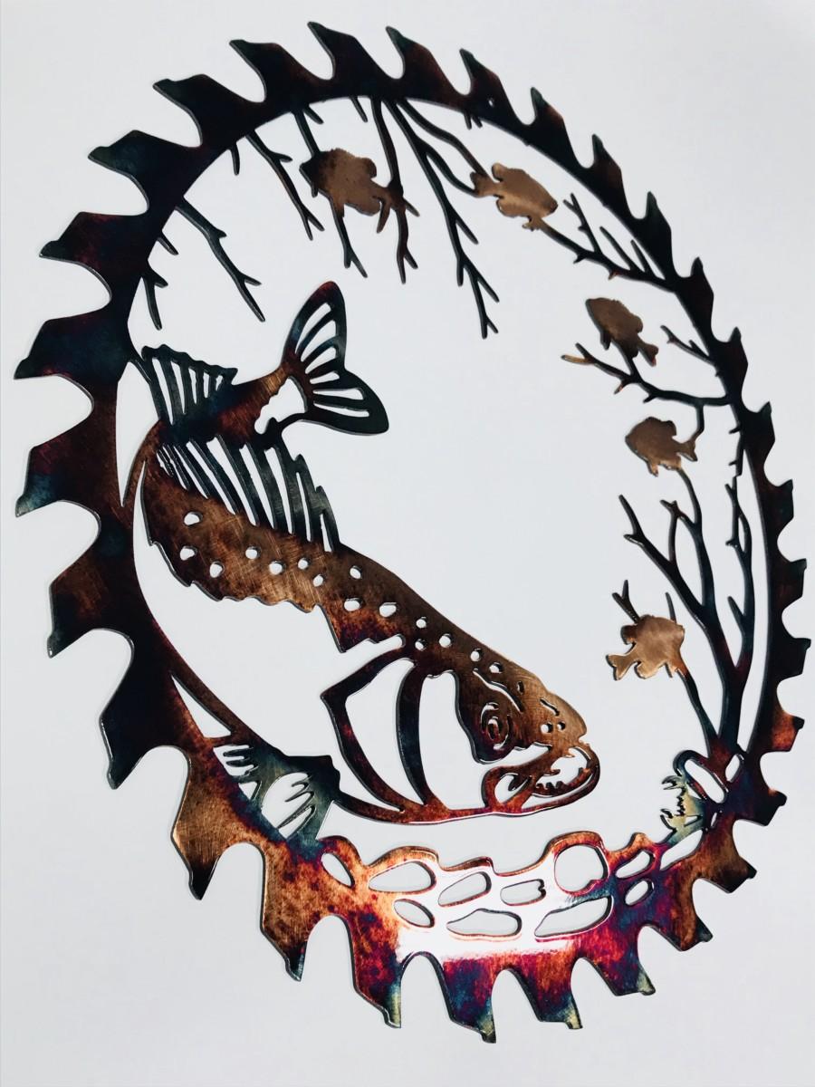 02 walleye sawblade cut out Metal Wall Art Metal Dècor Studios
