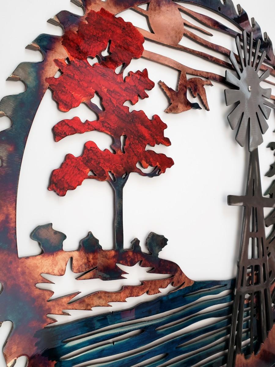 02 windmill sawblade Metal Wall Art Metal Dècor Studios