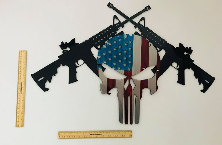 03 AR15 American Punisher Wall Art Metal Dècor Studios