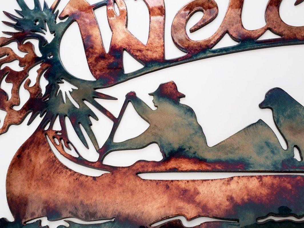 03 Welcome Canoe Wildlife Wall Art Metal Dècor Studios 1 300x259