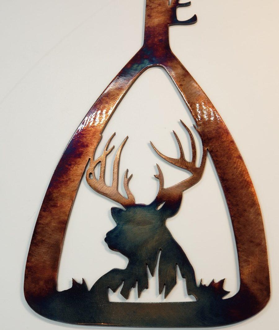 03 canoe paddle bedded buck Metal Wall Art Metal Dècor Studios