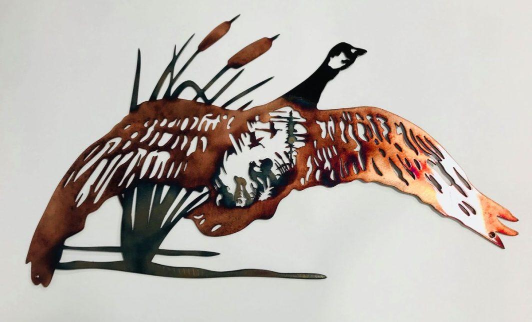 03 goose hunting scene Metal Wall Art Metal Dècor Studios