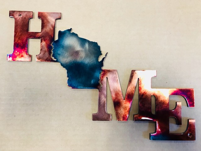03 home is a state of mind Metal Wall Art Metal Dècor Studios