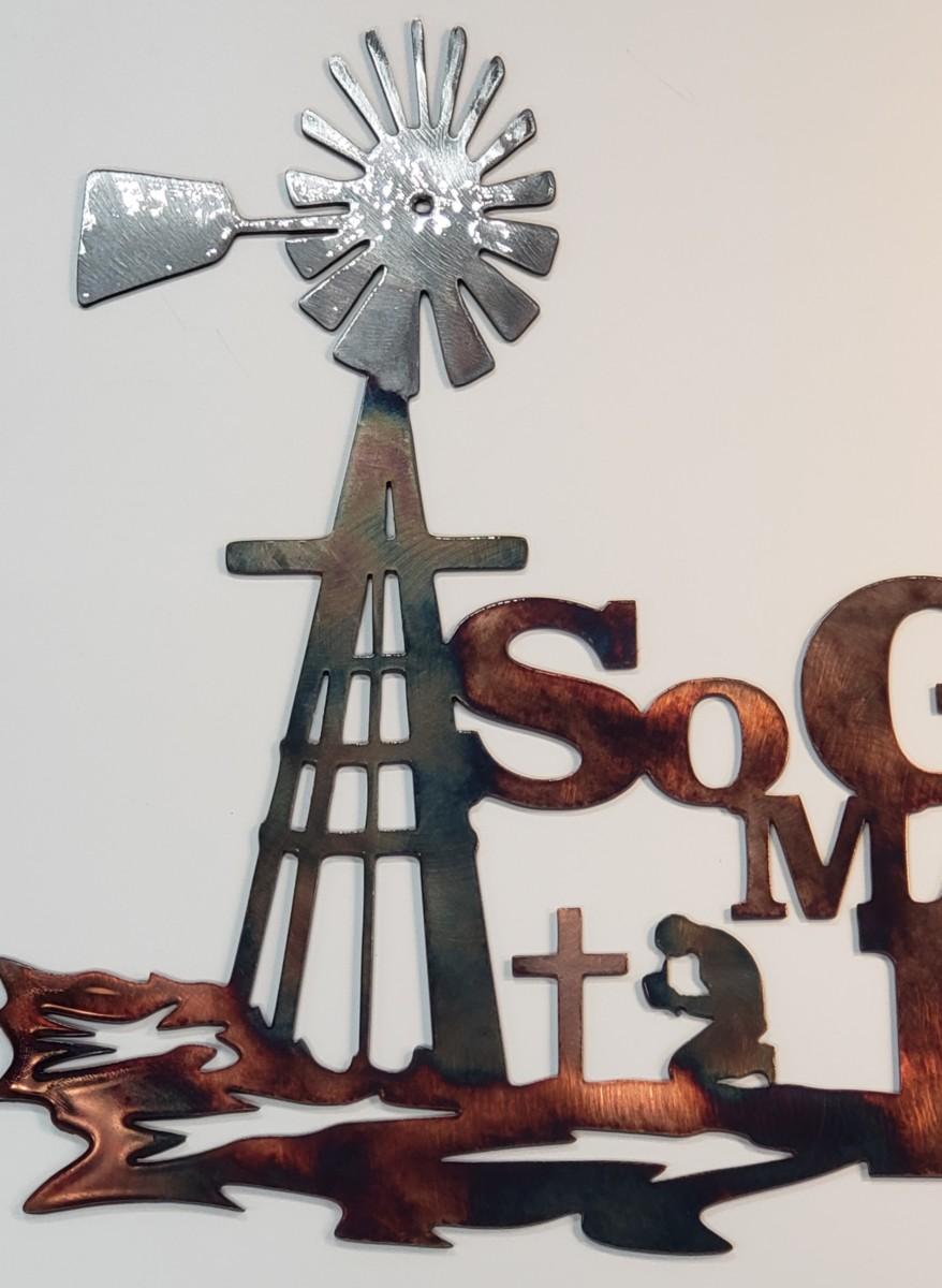 03 so god made a farmer Metal Wall Art Metal Dècor Studios