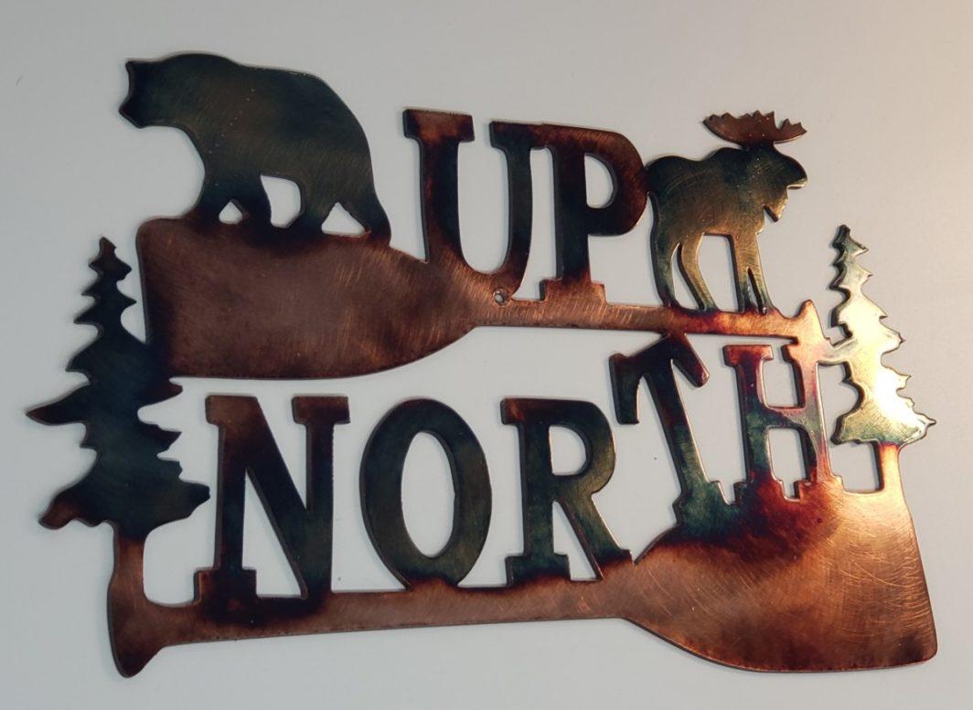 03 up north Metal Wall Art Metal Dècor Studios