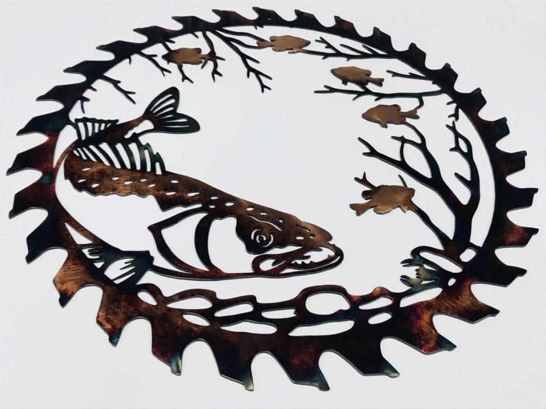 03 walleye sawblade cut out Metal Wall Art Metal Dècor Studios