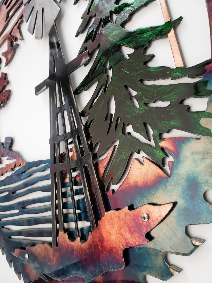 03 windmill sawblade Metal Wall Art Metal Dècor Studios
