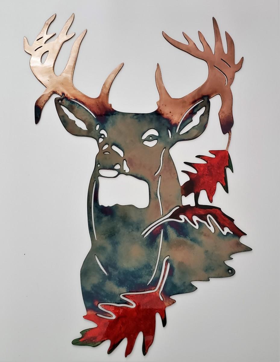 04Pretty Boy Fall Buck Wisconsin Northwoods Gifts For MenMetal Dècor Studios 1