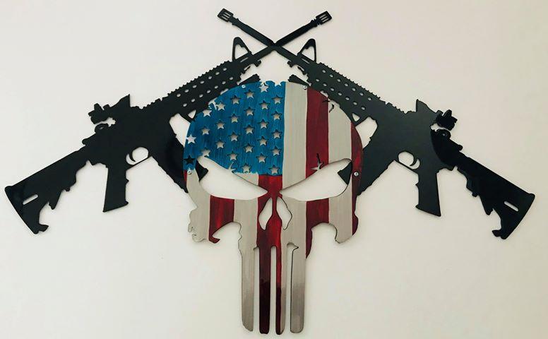 04 AR15 American Punisher Wall Art Metal Dècor Studios
