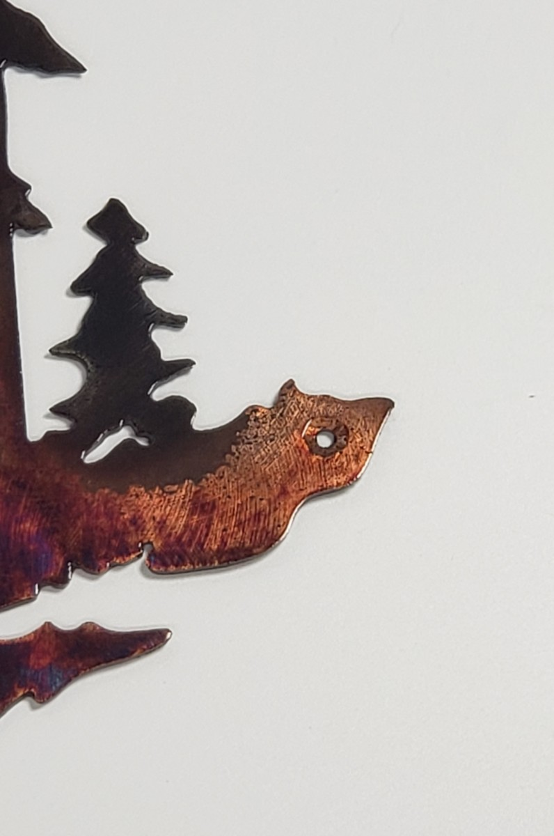 04 Pine Boss Whitetail Deer Metal Wall Art Metal Dècor Studios