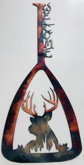 04 canoe paddle bedded buck Metal Wall Art Metal Dècor Studios