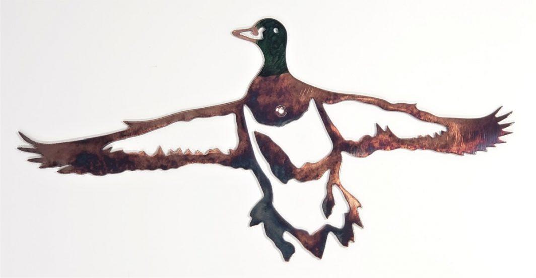 04 mallard set ducks Metal Wall Art Metal Dècor Studios