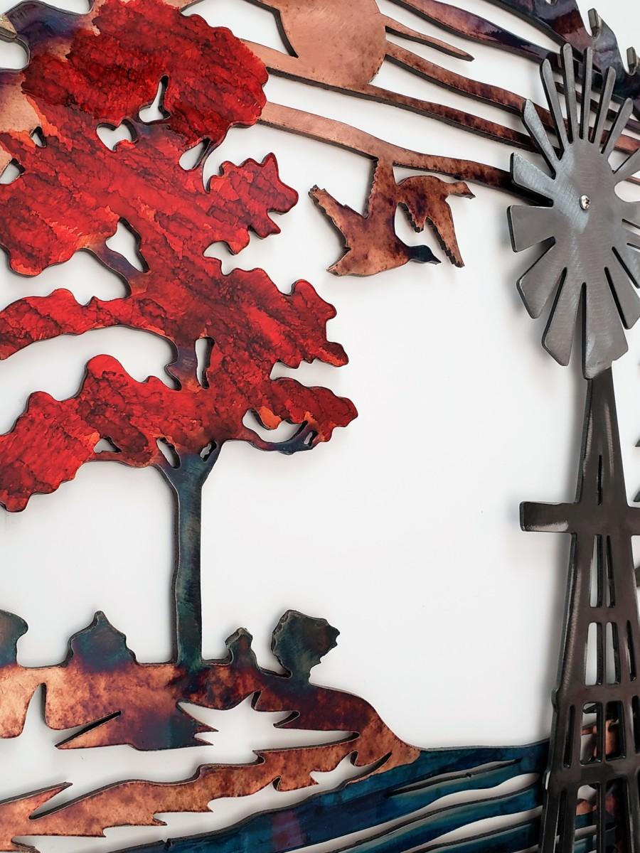 04 windmill sawblade Metal Wall Art Metal Dècor Studios