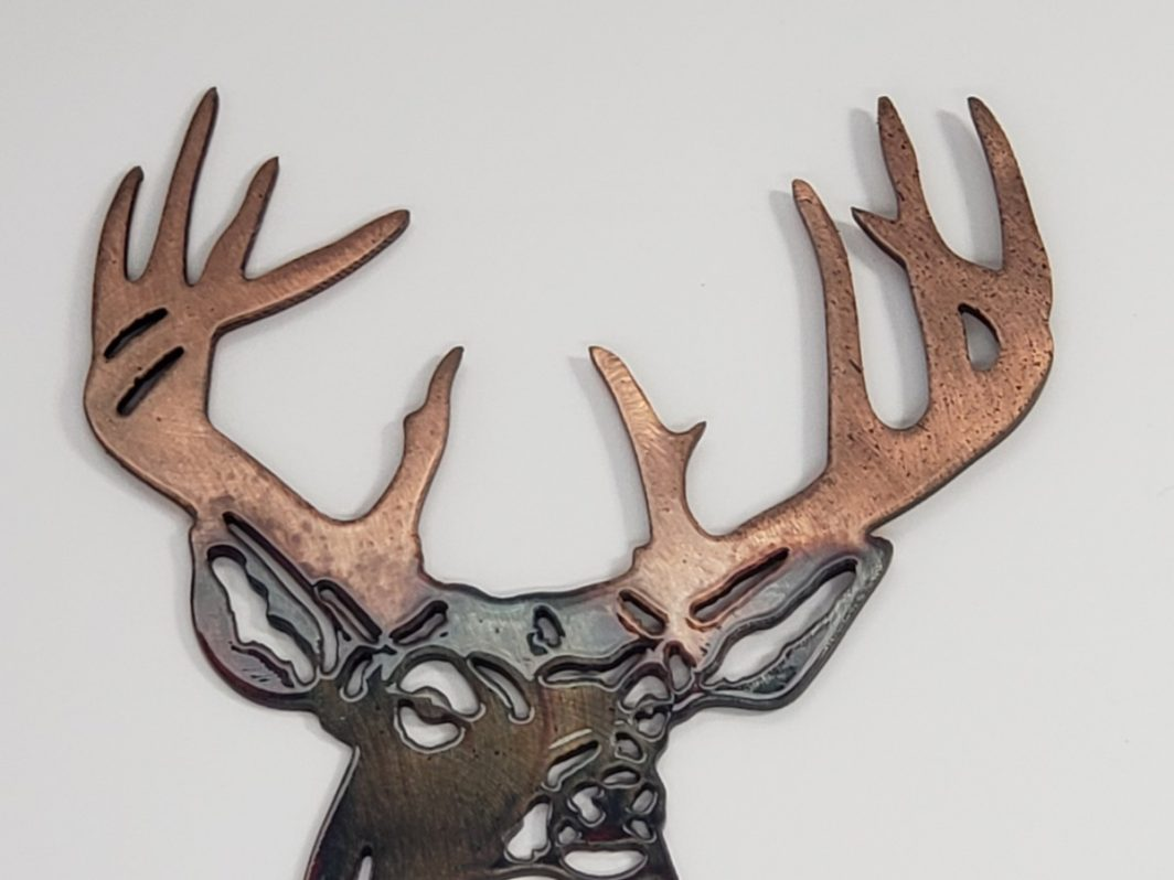 05 Pine Boss Whitetail Deer Metal Wall Art Metal Dècor Studios