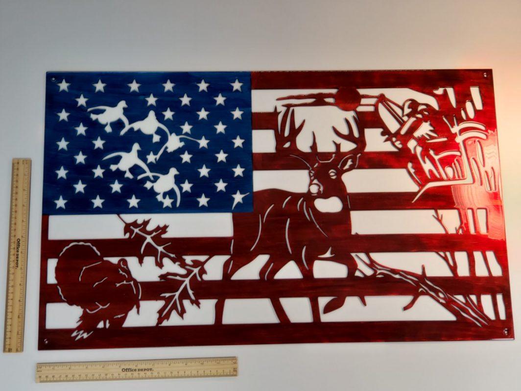 05 american bowhunter Metal Wall Art Metal Dècor Studios