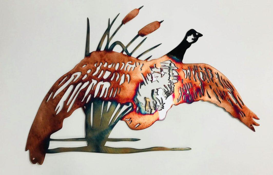 05 goose hunting scene Metal Wall Art Metal Dècor Studios