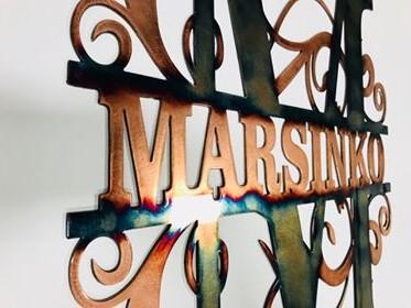 05 monogram Metal Wall Art Metal Dècor Studios