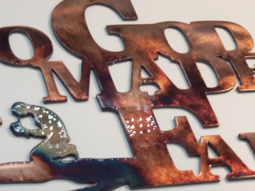 05 so god made a farmer Metal Wall Art Metal Dècor Studios