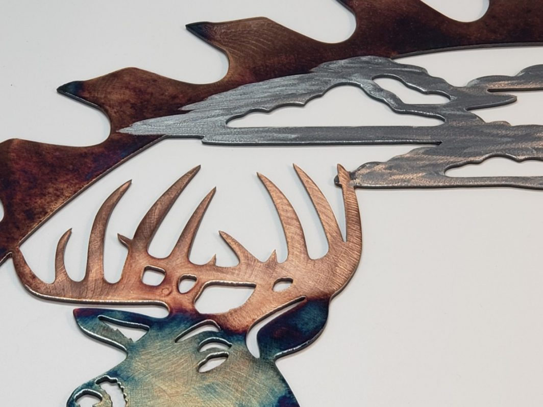 06 alert at dawn sawblade cutout Metal Wall Art Metal Dècor Studios