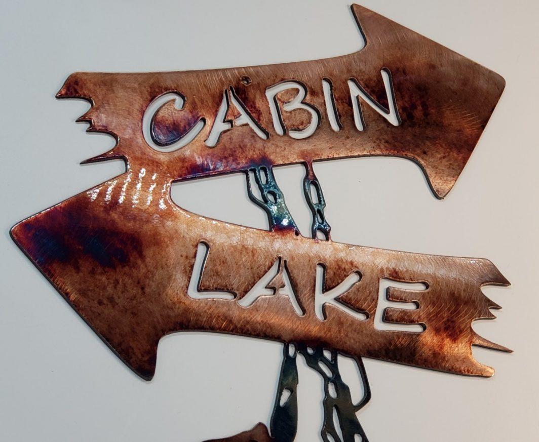 06 cabin stringer Metal Wall Art Metal Dècor Studios
