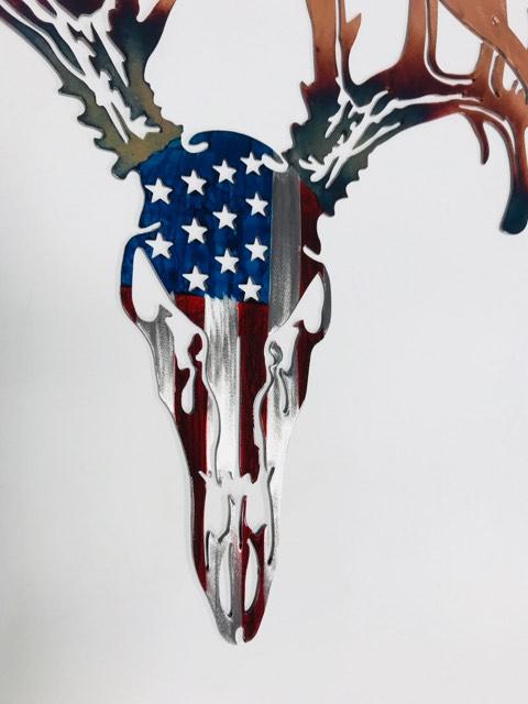 08 Drop Tine American Flag European mount Metal Wall Art Metal Dècor Studios