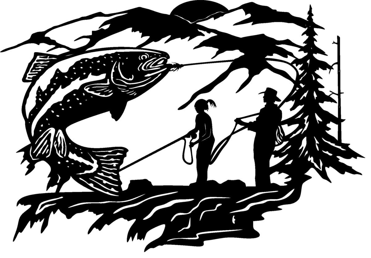 Custom trout scene
