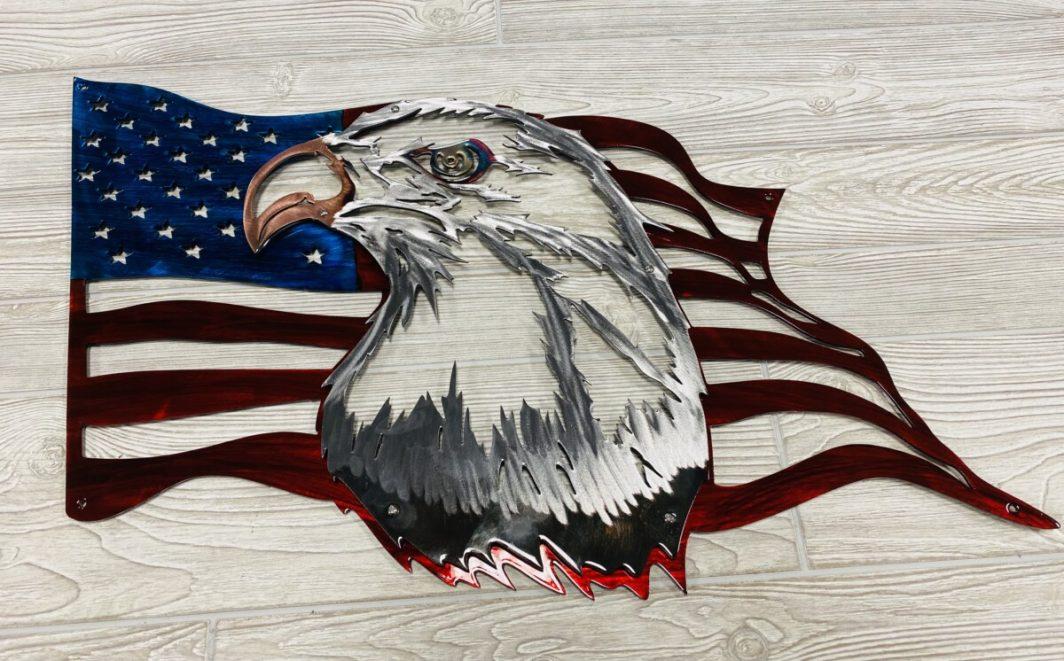 US Freedom Flag Themed Wall Art