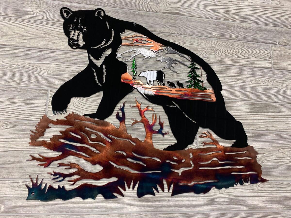 Shop custom black bear metal wall art
